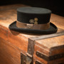 Conner - Low Crown Steam Punk Top Hat - Stock Image 1