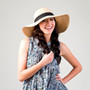 California Hat Company - Big Brim Raffia Hat in Natural - Stock Image 1