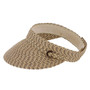 "Jeanne Simmons - Brown Tweed 4"" Visor Hat"