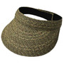 Jeanne Simmons - Black Tweed Paper Braid Visor