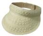 Jeanne Simmons - Ivory Paper Braid Visor