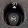Scala - Crushable Wool Felt Outback Hat Black - Bottom, Inside