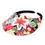 No Headache - Tropical Bloom Midsize Floral Visor Hat