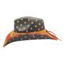 California Hat Company - Vintage American Flag Cowboy Hat - Side