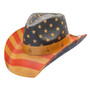 California Hat Company - Vintage American Flag Cowboy Hat -