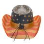 California Hat Company - Vintage American Flag Cowboy Hat - Back