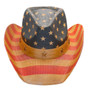 California Hat Company - Vintage American Flag Cowboy Hat - Front