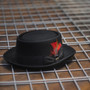 Scala - Jazz Porkpie Wool Felt Hat - Stock Image 1