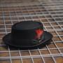 Scala - Jazz Porkpie Wool Felt Hat - Stock Image 1