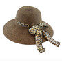 California Hat Company - Leopard Ladies Sewn Braid Straw Hat