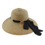 California Hat Company - Brown Ladies Sewn Braid Straw Hat
