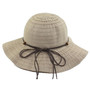 California Hat Company - Beige Short Brim Ribbon Hat