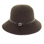 California Hat Company - Ladies Cloche with Leather Band