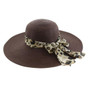 "California Hat Company - 5"" Wide Brim Ladies Hat"