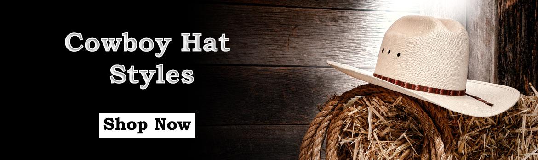 Cowboy Hat Styles Banner