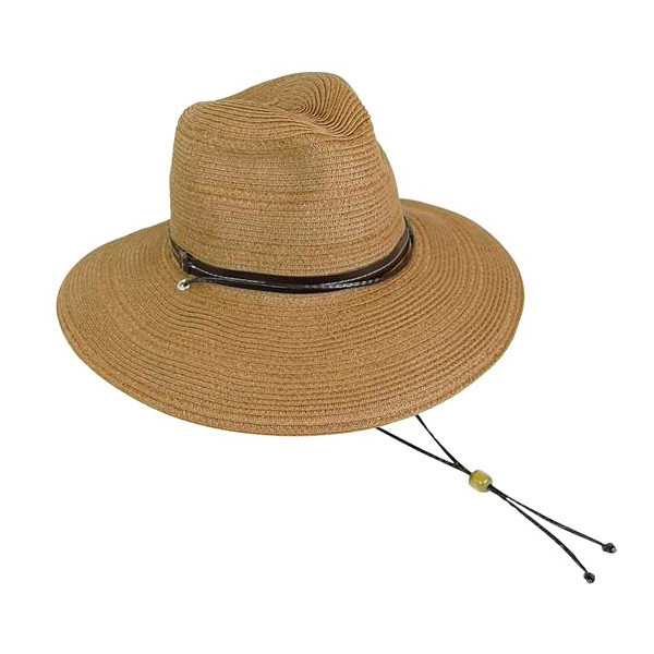 edd9704a626b1 Boardwalk Style - Mixed Straw Safari Hat With Chin Strap