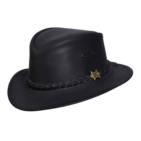 04657e87b63a8d Conner Hats | Streetwise Leather Fedora | Hats Unlimited