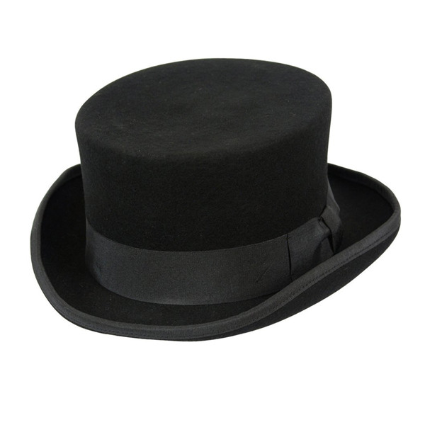 Conner Low Rise Wool Top Hat in Black - Full View 06438ae7f255