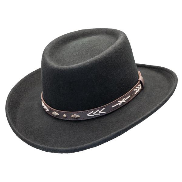0a48c57b389e5 Conner - Wool Felt Arizona Gambler Hat -