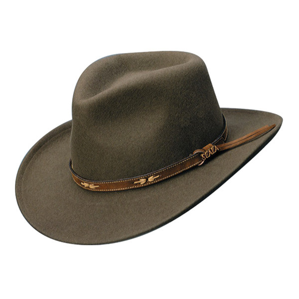 d69b5895 Scala | Crushable Wool Outback Hat | Hats Unlimited