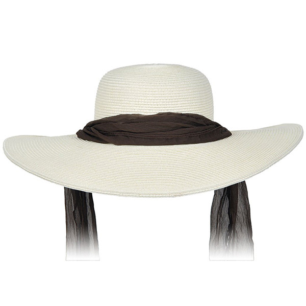 adbc435913e0f Kenny K. Karen Keith - Wide Brim Designer Resort Hat With Tie