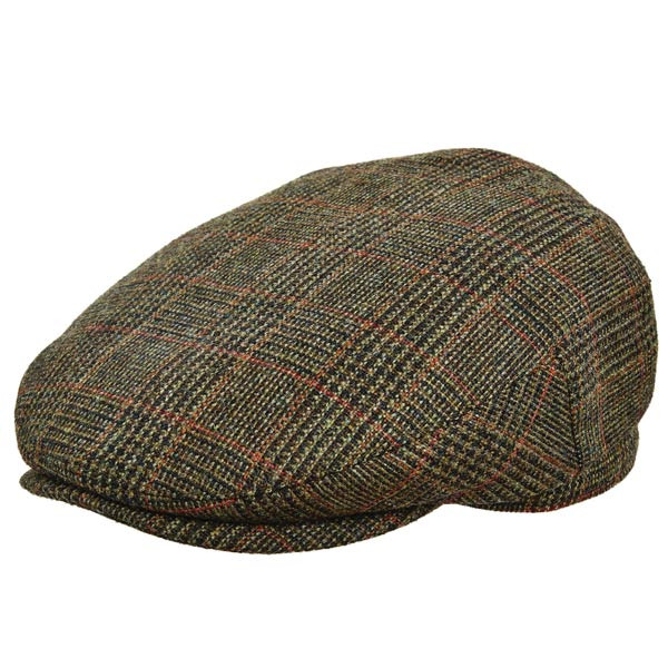 cd55e45d46b2a Stetson - Plaid Italian Wool Ivy Cap in Olive - Full View