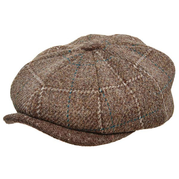 Stetson - Authentic Italian Wool Newsboy Cap in Brown - Full View 014e3717b71