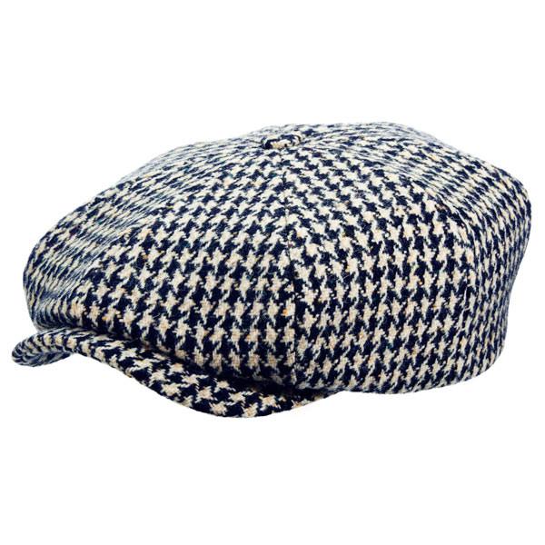 Stetson Hats. Stetson - Houndstooth Hatteras Newsboy Cap 45ae6e37497b