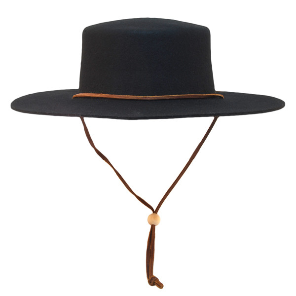 Jeanne Simmons - Wool Felt Bolero Hat w  Chin Chord 50d9ff9f1aa