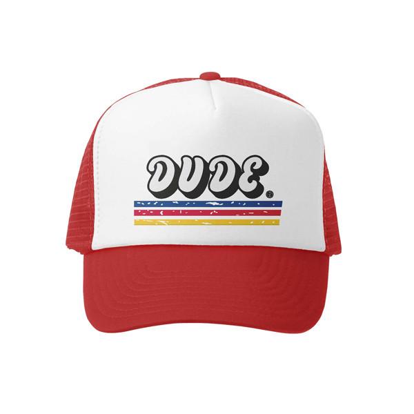 739857c18 Grom Squad - DUDE Toddler Trucker Hat