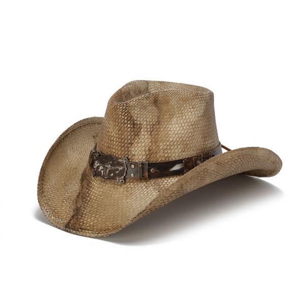 Stampede Hats - Rustic Longhorn Cowboy Hat - Front Angle 4789c40bd3b