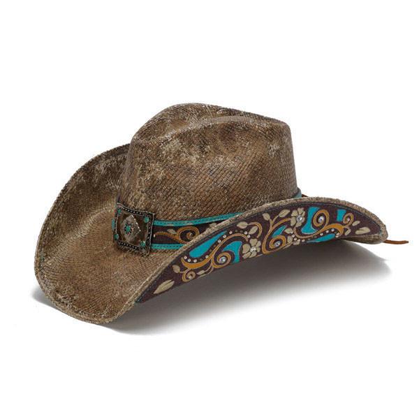 7da0e2a3864 Previous. Stampede Hats - Brown Flowers Cowboy ...