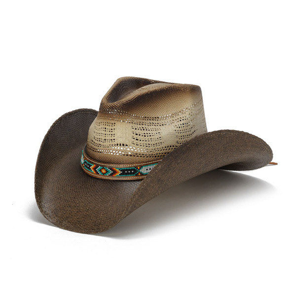 Stampede Hats - Color Bead Two Tone Cowboy Hat - Front Angle a79d420b8c2
