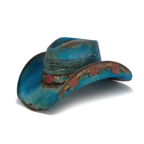 a367acc08d61b6 Stampede Hats | Blue Rose Cowboy Hat | Hats Unlimited