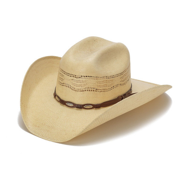 bcf55118 Stampede Hats | Beige 50X Bangora Cowboy Hat with Scalloped Leather ...