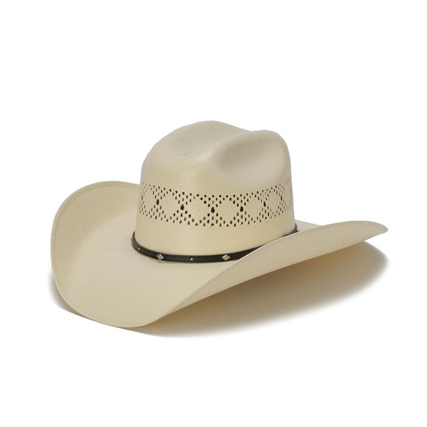 Stampede Hats - 50X Shantung Cowboy Hat with Diamond Conchos - Front Angle b5befe9ffe1