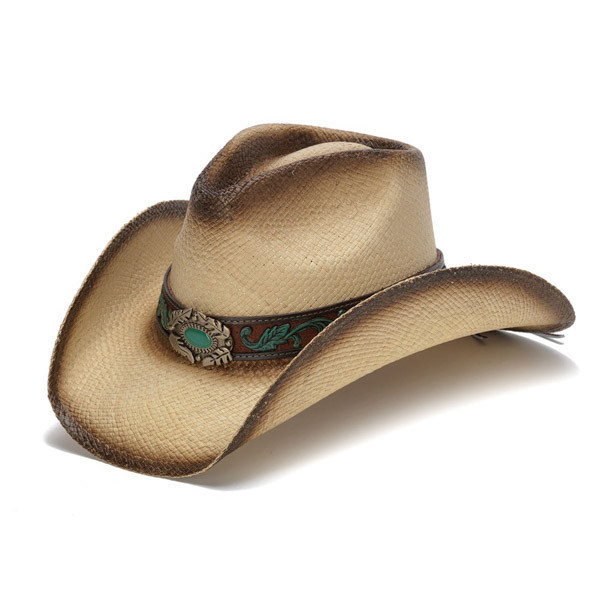 6a338b26 Stampede Hats | Mizzie Turquoise Gem Leaf Print Western Hat | Hats ...