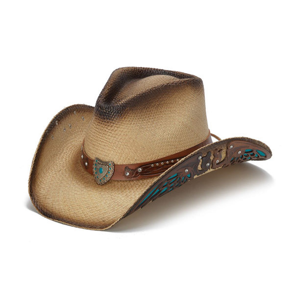 2151c023f74 Stampede Hats - Turquoise Wings and Rhinestone Western Hat - Front Angle