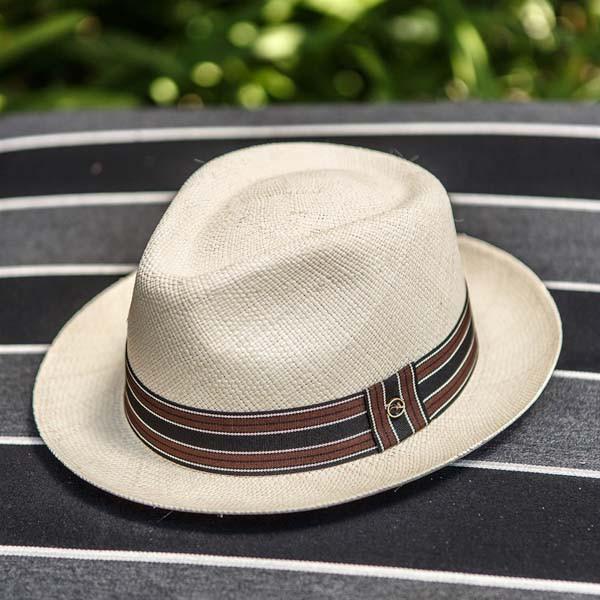 b5aa577575d05 Austral Hats. Austral Hats - Beige Panama Hat with Black ...