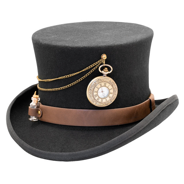 bab3870e27e06b Kenny K | The Time Traveler Steam Punk Wool Felt Top Hat | Hats ...