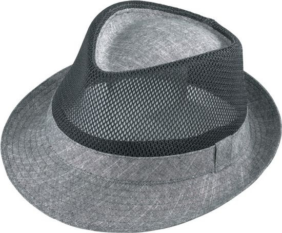 1bb2b841ee282 Henschel. Henschel - Mesh Charcoal Fedora Hat