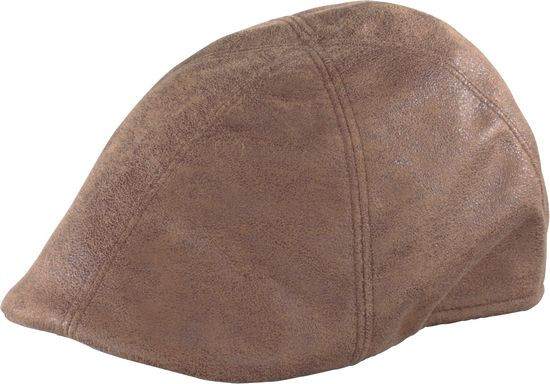 19c23c05090 Henschel. Henschel - Brown Faux Leather Duckbill Cap
