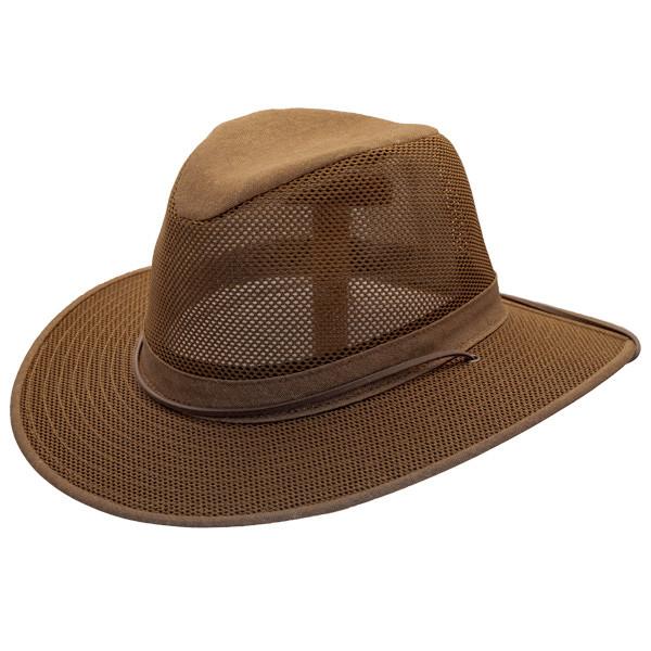 7a2af606aa7 Henschel - Brown Packable Aussie Breezer Safari Hat