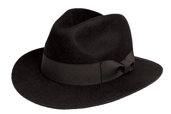 Kenny K. Kenny K - Black Wool Felt Safari Fedora Hat 94e156bd0f33