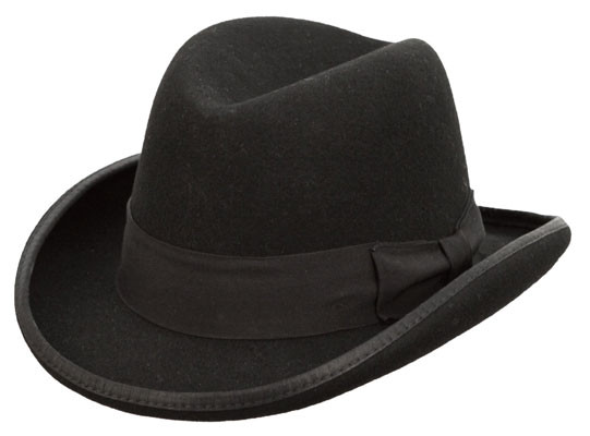 Kenny K Black Wool Felt Homburg Hat Hats Unlimited Homburg hats at village hats. kenny k black wool felt homburg hat