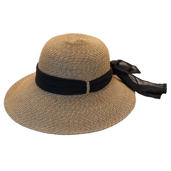 8edba6f5ebb1 Jeanne Simmons - Cut Brim Hat with Ribbon
