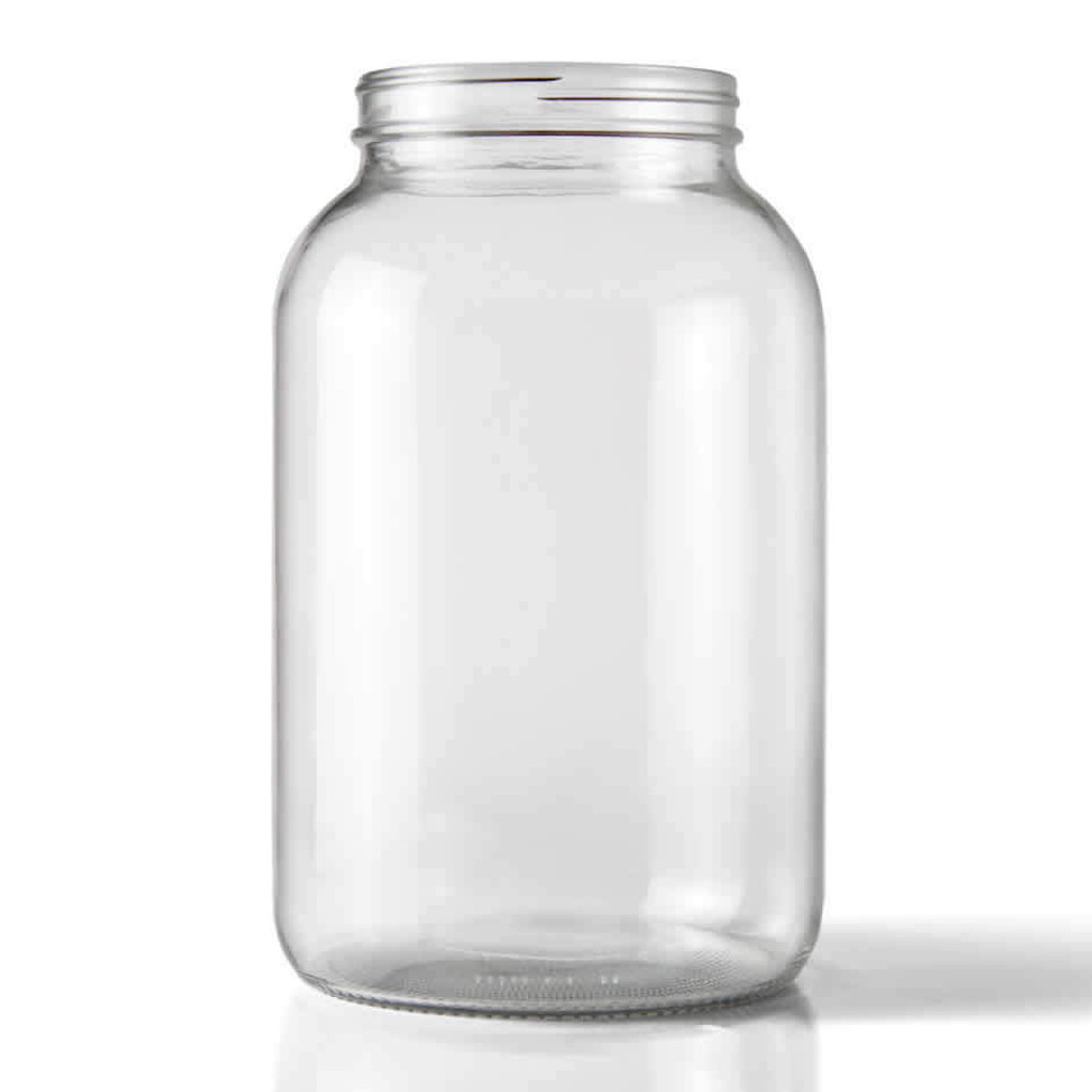 One Gallon Glass Wide Mouth Jug Case / 4