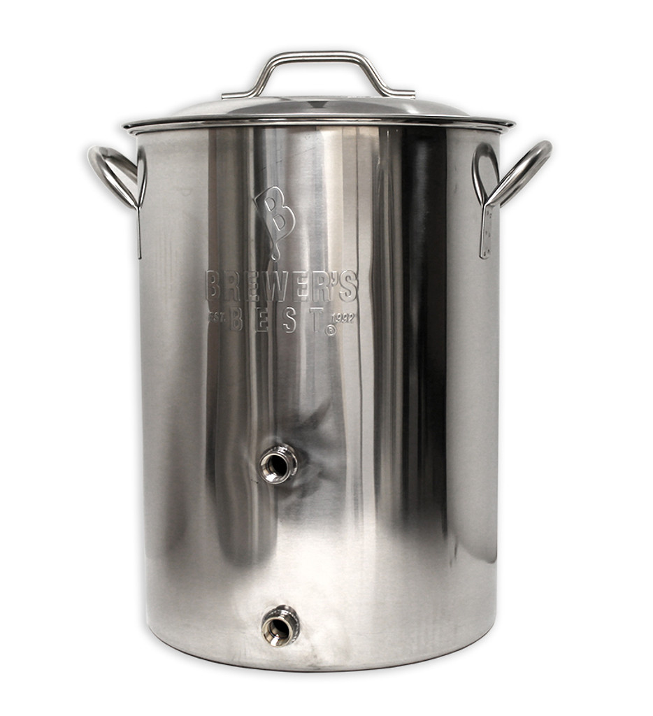 8 Gallon Brewers Best Basic Brewing Kettle With Two Ports