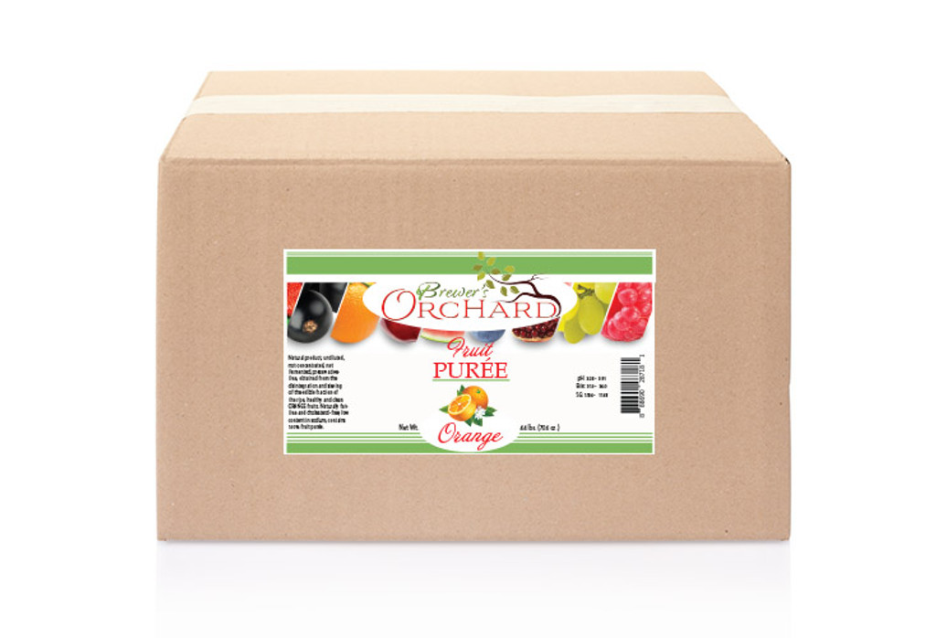 Natural Orange Fruit Purée 44 lb