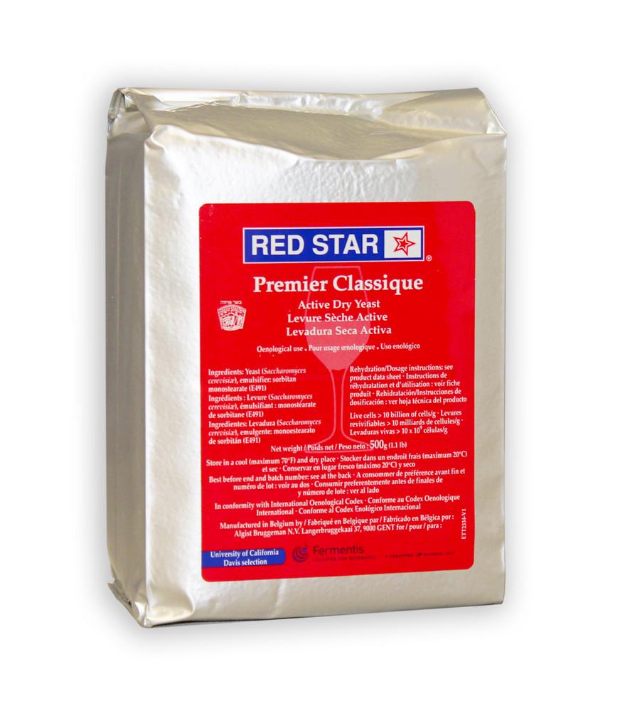 Red Star Premier Classique Wine Yeast 500g Brick